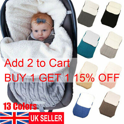 Universal Baby Footmuff Liner Pushchair Stroller Buggy Pram Cosy Sleeping Bag UK