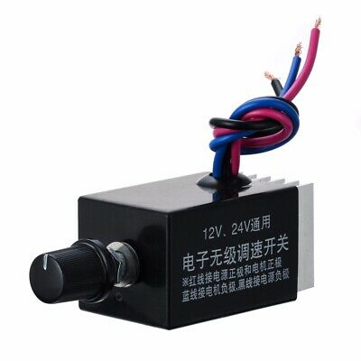 Motor Car Speed Controller Switch DC 12V 24V 10A Fan Heater Control Defroster US
