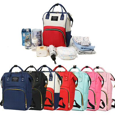 Hot Mummy Maternity Nappy Diaper Bag Large Changing Baby Travel Backpack Handbag