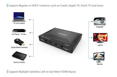 Mechanical 4 Way HDMI Switch Selector 4 Port 1080p 4K HDCP for Foxtel Apple TV