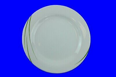 24 x White dinner plates 27 cm light green flashes Toronto Eden, Arcoroc