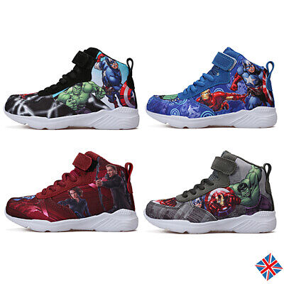 Kids Children High Top Boots Trainers Boys Mesh Basketball School Shoes Outdoor