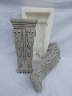 SILICONE RUBBER MOULD ORNATE LONG CORBELS DIY FURNITURE FIRE PLACE Shelf Support