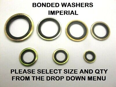 "Bonded Seal Washers IMPERIAL- Dowty Sealing Washer Sealing Sizes 1/8"" - 1"" BSP"
