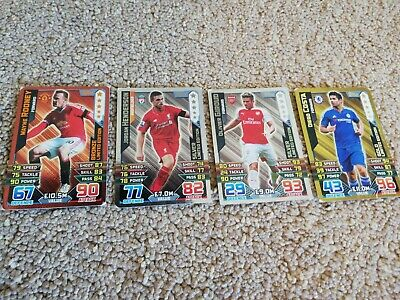 Match Attax 2015/16 Bronze,Silver And Gold Limited Edition Cards