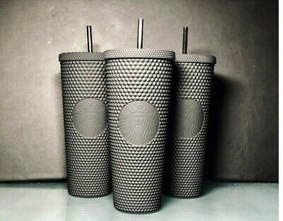 Fall 2019 Starbucks Matte Black Studded Tumbler Cup Limited Edition!