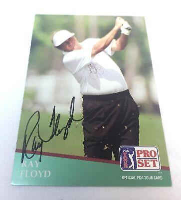 hand signed autographed PGA card ~ RAY FLOYD