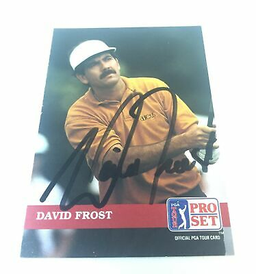 hand signed autographed PGA card ~ DAVID FROST