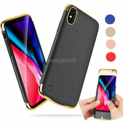 Bank Backup Power Battery Case Cover Charger For iPhone X XS max XR 6S 7 8 Plus