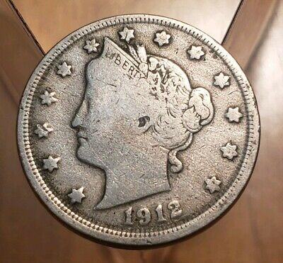 1912 Liberty Head V Nickel VF-Very Fine
