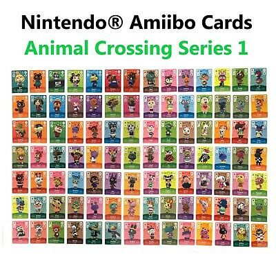 Individual Animal Crossing Amiibo Cards - Series 1 (#001-100)[US Ver.] YOU PICK!