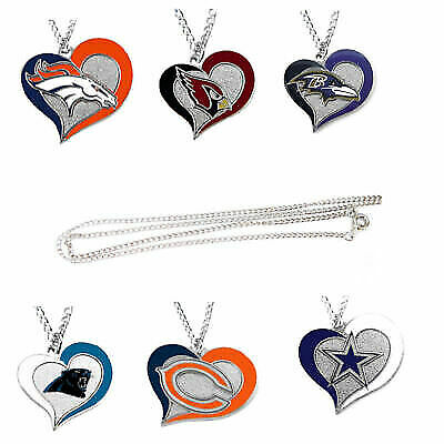 Nfl Heart Swirl Necklace Pick Your Team