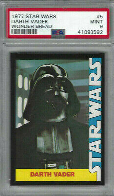 1977 Star Wars Wonder Bread #5 Darth Vader Card - Graded PSA NM-MT 8