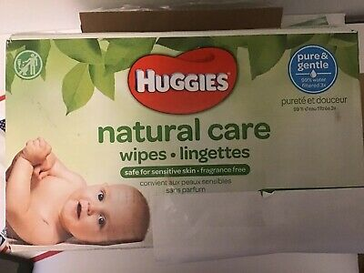 Huggies Natural Care Unscented Baby Wipes Refills, Sensitive, 216 Count NEW