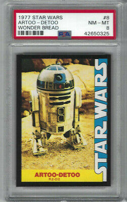 1977 Star Wars Wonder Bread #8 Artoo-Detoo Card - Graded PSA NM-MT 8