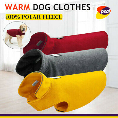 Reversible Dog Clothes Coats Winter Warm Windproof Puppy Jackets Reflective  AU
