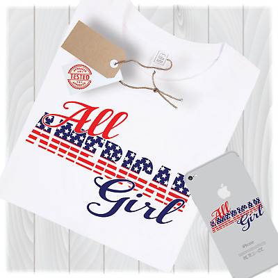 All American Girl Svg Files for Cricut Designs - Digital Download Option
