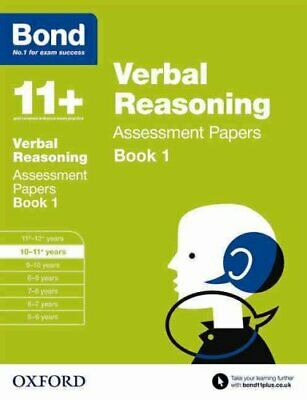 Bond 11+: Verbal Reasoning: Assessment Papers 10-11+ years Book 1 9780192740359