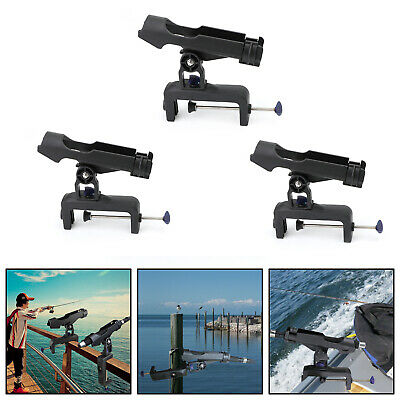Adjustable Boat Fishing Pole Rod Holder Clamp-on Rail 4.7inches for Kayak US