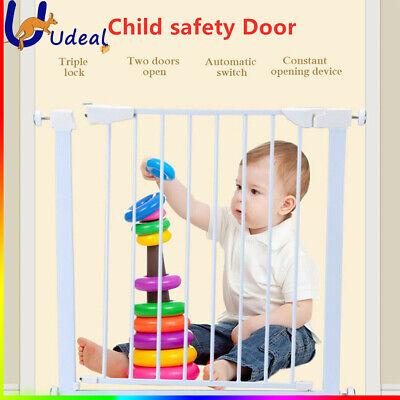 75cm Tall Baby Safety Gate Child Pet Security Stair Barrier Door Adjustable Wide