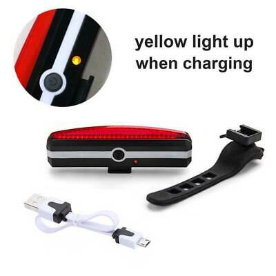Bicycle Bike Cycling Red Rear Tail Light Bright LED USB Rechargeable Waterproof