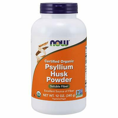 NOW Supplements Organic Psyllium Husk Powder 12Ounce
