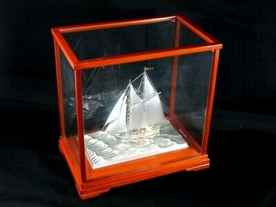 JAPANESE Sterling Silver Ship ANTIQUE EXQUISITE W/Case [EXCELLENT]
