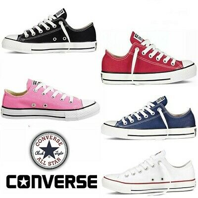 Converse Chuck Taylor Girls Boys All Star Low Top Canvas Trainers Walking Shoes