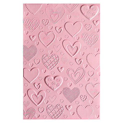 Sizzix 3D Textured Impressions Embossing Folder Hearts  by Courtney Chilson
