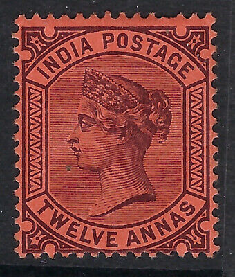 INDIA:1888 12a purple/red SG100 mint hinged