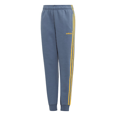 adidas Core Jungen Sport-Trainings-Hose Essentials 3S Pant blau gold