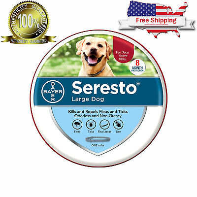 Seresto Flea and Tick Collar for Large Dog Over 18 lbs, 8 Month Effect