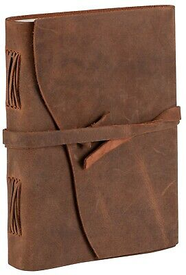 Antique Handmade Luxury Leather Journal, Tree Free Cotton Paper, Non refillable