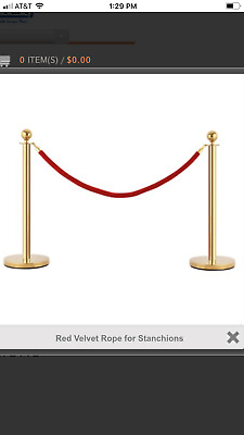 YAHEETECH STANCHIONS and VELVET ROPE STAINLESS STEEL BRAND NEW in BOX!!!!!!