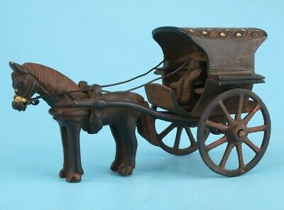 Bronze Handmade Horse-Drawn Carriage Decoration Only One Old Collec