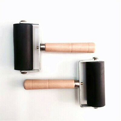 UK Rubber Roller Brayer Ink Painting Printmaking Roller Paint Art Wood Handle