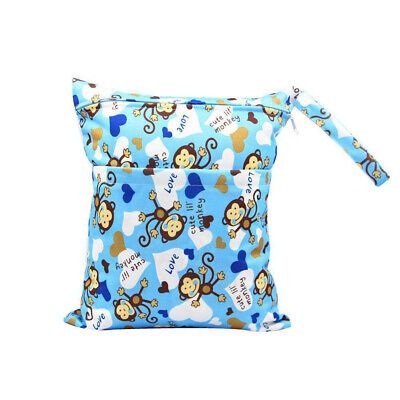 Reusable Newborn Kids Waterproof Wet Dry Bag Diaper Nappy Travel Swimming Pouch