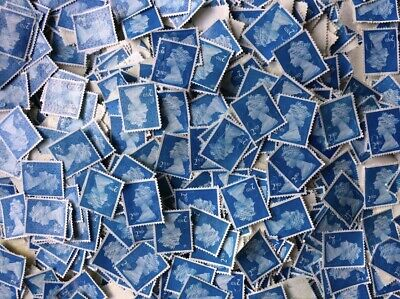 600 X 2nd class Security stamps blue, (seconds) off paper no gum See Description
