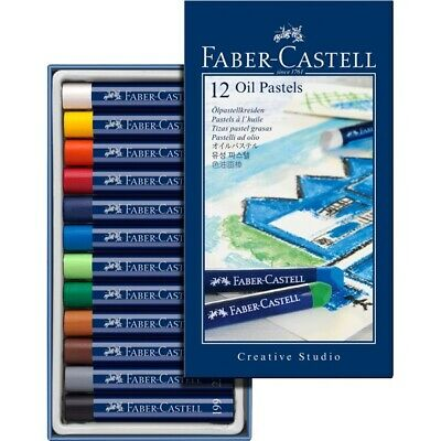 #127012 Faber Castell Box of 12 Oil Pastel Crayons Studio Quality Artists Colour