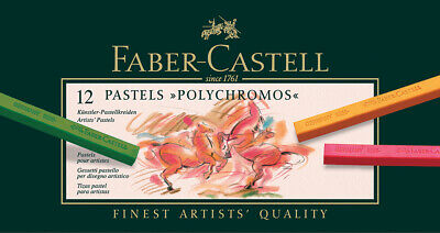 #128512 Tin of 12 Faber-Castell Polychromos Artists' Art Pastel Crayon Pencils