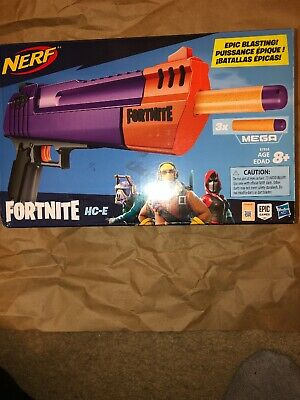 Nerf Fortnite HC-E Mega Dart Blaster Includes 3 Official Nerf Mega darts - NEW