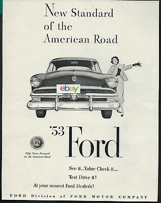 Ford Motor Company For 1953 New Standard Of The American Road Ad