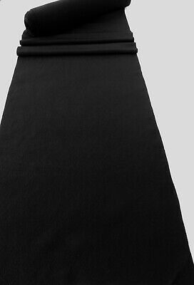 Japanese Kimono Silk Black Fabric Brand New From A Roll Free Postage