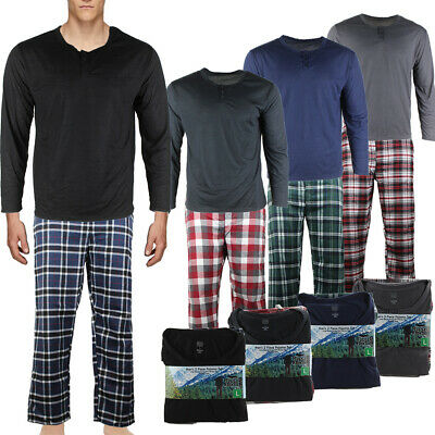 Rugged Frontier Men's Plaid Flannel 2 Piece Lounge Pajama Set