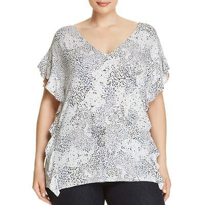 Finders Womens Told You Ivory Floral Burnout Open Back Blouse Top XS BHFO 2698