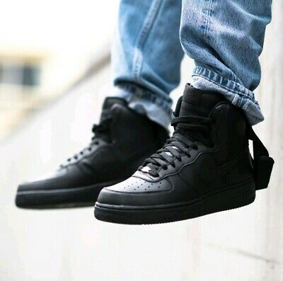 the best attitude de8ad 24a5f MEN'S NIKE AF-1 82 Air Force 1 All Black Sneakers Size 12 ...