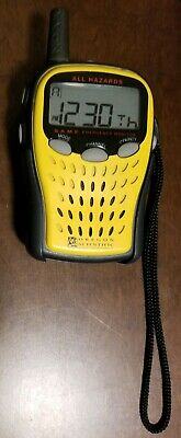 ALL HAZARDS OREGON SCIENTIFIC S.A.M.E. EMERGENCY RADIO MONITOR - Tested Works!