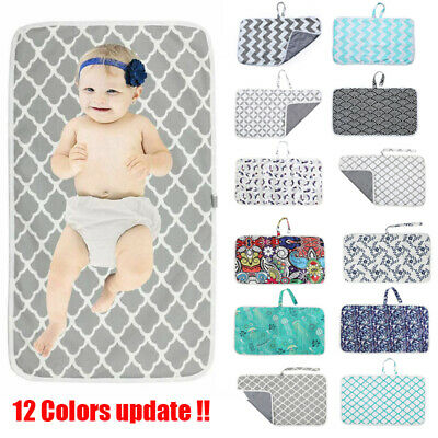 Baby Portable Foldable Washable Waterproof Travel Nappy Diaper Changing Mat Pad