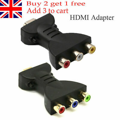 Durable AV Component Converter Hot HDMI To 3 RGB/RCA Video Audio Adapter