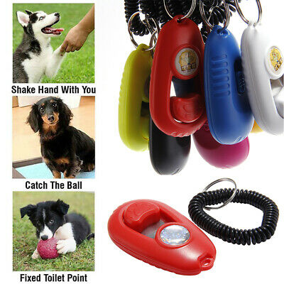 Pet Clicker Trainer Aid Tool For Dog Puppy Obedience Agility Behaviour Training